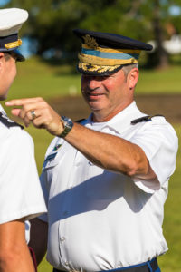 sargeant smiling at cadet