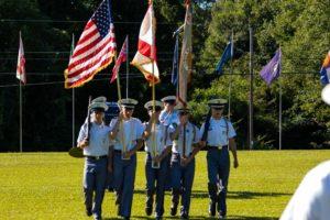cadet flag ceremony