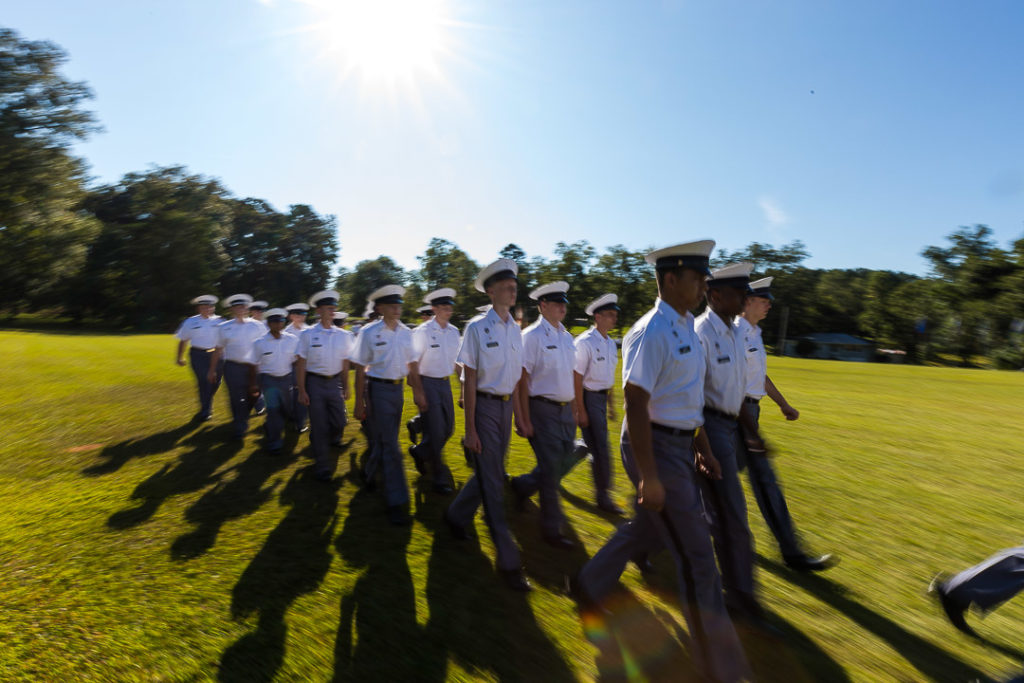 cadets marching in line