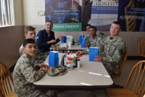 cadets having lunch