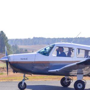 cadet flying a plane