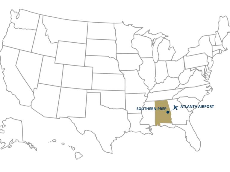 southern prep US map
