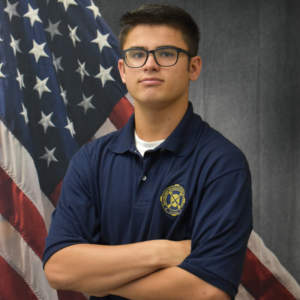 young cadet in blue shirt