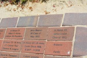 commemorative brick path