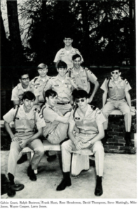 group of cadet boys hanging out