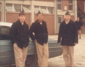 vintage photo of three cadets