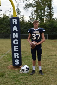 young ranger football player
