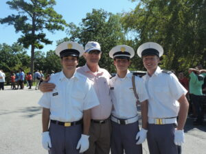 three cadets and mr arwood